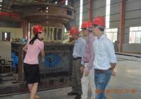 7.30马来西亚客户考察立式木屑颗粒机